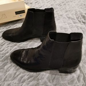 Cole Haan | Black Leather Ankle Boots